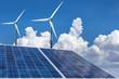 solar panels and wind turbines renewable energy