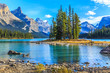 Spirit Island in Maligne Lake - 78616863