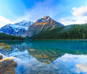 Edith Cavell Lake in Jasper National Park