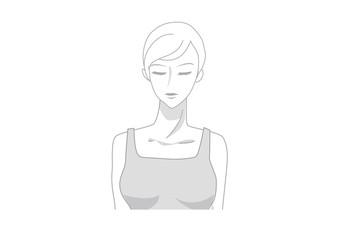 女性のトルソ