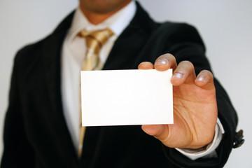 名刺を差し出すビジネスマン Busiessman Holding a business card