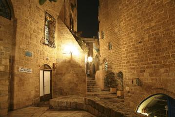 Old Jaffa at night. Tel Aviv. Israel