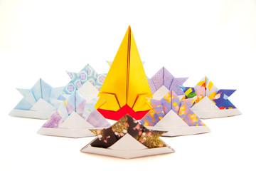Origami paper Samurai Helmets Japan