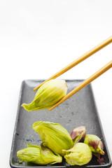 Picking up Fukinoto butterbur sprout Japan
