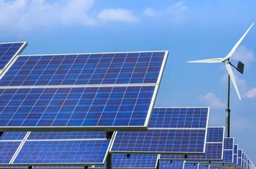 solar panels and wind turbines  alternative energy