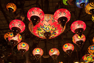 Traditional oriental handmade lamps