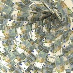 Geldstrudel aus 5 Euroscheinen