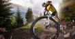 Sport. Mountain Bike cyclist riding single track - 78619836