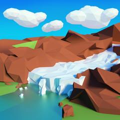 Gletscher im Gebirge