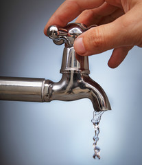 closes the leakage of water