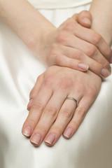 Wedding ring on the left hand ring finger