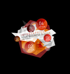 Business abstract triangular infographics layout