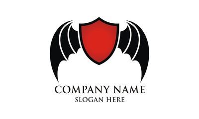bat wing shield logo image