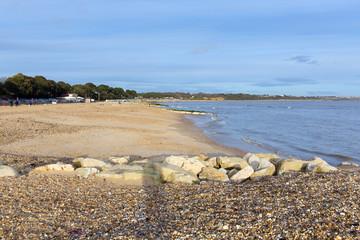 Mudeford beach near Christchurch Dorset England UK