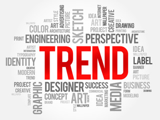 TREND word cloud, business concept