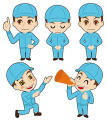 帽子の作業者の告知用カット(酪農イメージ)