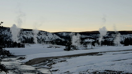 Fumaroles in winter