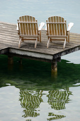 Armchairs on a pontoon