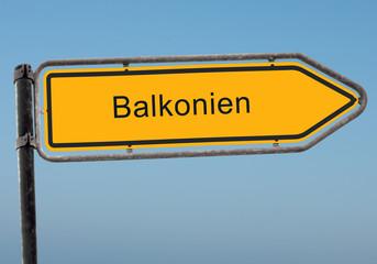 Strassenschild 38 - Balkonien