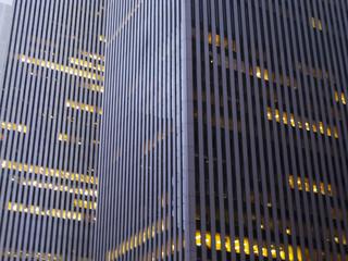 Building facades in New York City