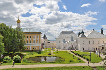 Rostov the Great, Kremlin, Russia. View to the lake.