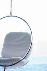 Plexiglas hanging chair