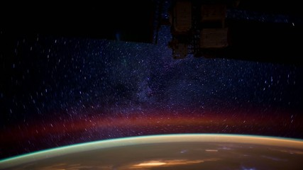 Planet Earth Seen From Outer Space. Elements furnished by NASA
