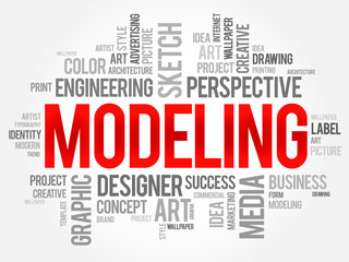 MODELING word cloud, business concept