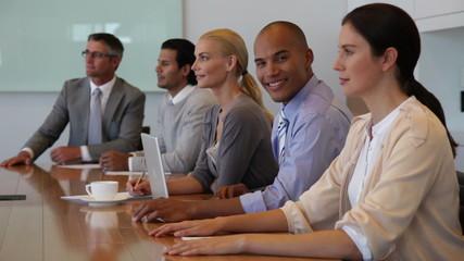 Working team in meeting room
