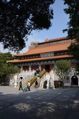 Large temple near Hong Kong, China