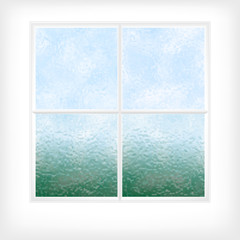 Frosted glass window