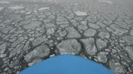 Bow of a ship navigating in ice 2