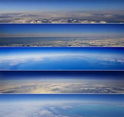 High altitude horizon banners.