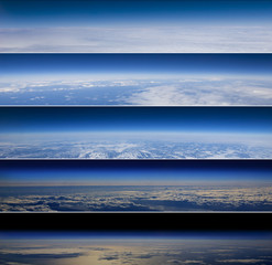 High altitude horizon banners.