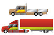 Convetional trucks with double cab
