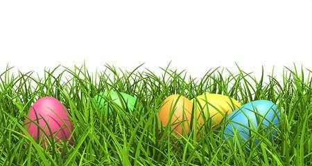 Ostereier, Gras, Rasen, Wiese, versteckt, bunte Eier, Ei, Egg