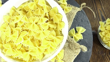 Raw Bow-Tie Pasta (not loopable)
