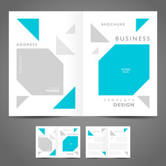 brochure design template flat simple booklet geometric abstract