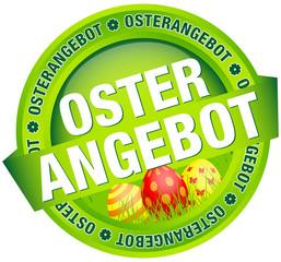 """Button Banner """"Osterangebot"""" Ostereier grün/rot"""