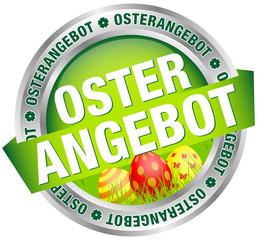 """Button Banner """"Osterangebot"""" Ostereier grün/silber/rot"""