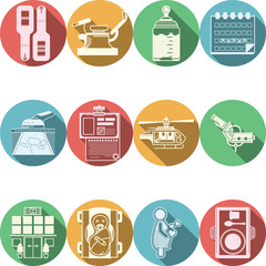 Colored icons vector collection for gynecology