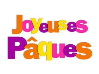JOYEUSES PAQUES (carte œuf chocolat oeuf)