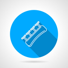 Round blue vector icon for gripping finger