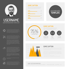 Simple profile dashboard template