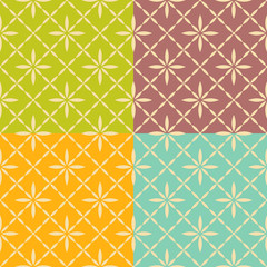 Seamless flower geometric pattern