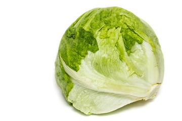 Salad iceberg. Iceberg Lettuce isolated on white