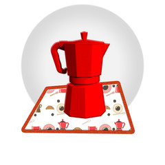caffettiera rossa