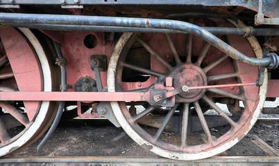 Ruote antiche locomotiva a vapore