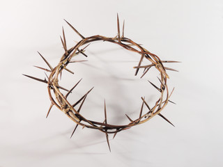 Crown of thorns with sharp spikes