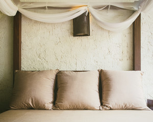Bedroom and pillows Home Interior decoration